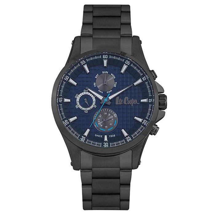 Lee Cooper μαύρο μεταλλικό ανδρικό ρολόι Multifunction LC06661.090 LC06661.090