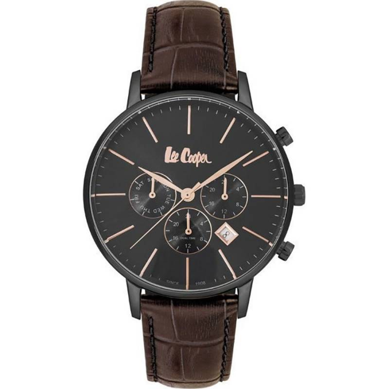 Lee Cooper Brown Leather strap LC06916.062 LC06916.062 Ατσάλι