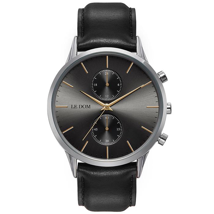 Black Leather-Silver Le Dom LD.1002-1 LD.1002-1 Ορείχαλκος