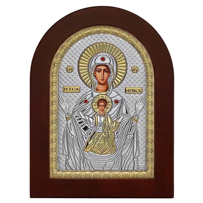 Ασημένια εικόνα με την Παναγία την Τσαμπίκα 925 032146 032146 Ασήμι