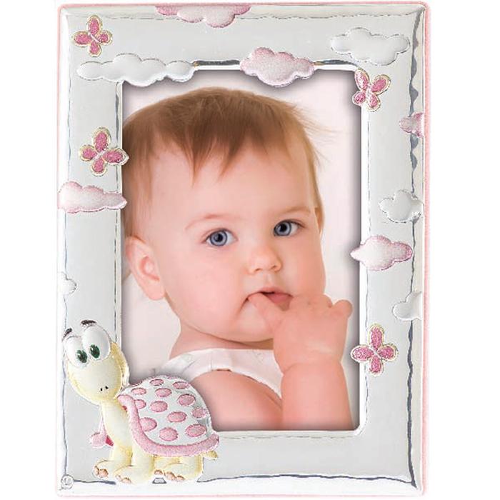 Κορνίζα χελωνίτσα ασημένια για κορίτσι 029186 029186 Ασήμι