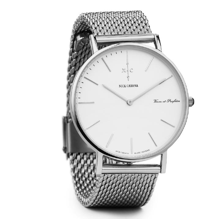 Ρολόι Nick Cabana Blanc Boheme Silver Bracelet NC005 NC005 Ατσάλι