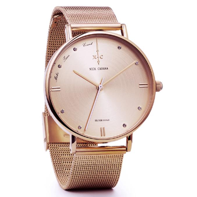 Γυναικείο ρολόι Nick Cabana Elixir gold Bracelet NC104 NC104 Ατσάλι