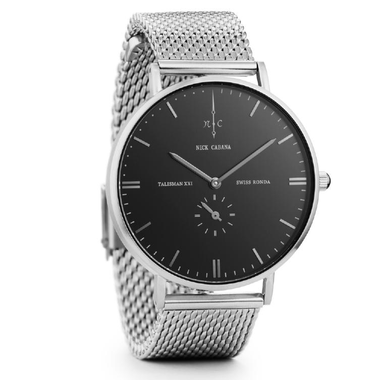 Ρολόι αντρικό Nick Cabana Talisman Metallic Bracelet NC107 NC107 Ατσάλι
