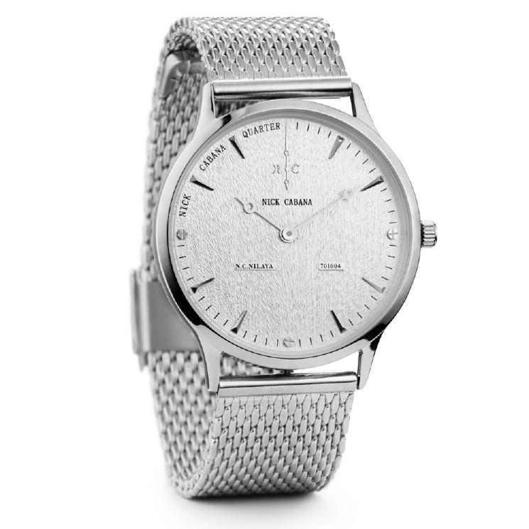 Nick Cabana ρολόι Nilaya Blanc Stainless Steel Bracelet NC209 NC209 Ατσάλι