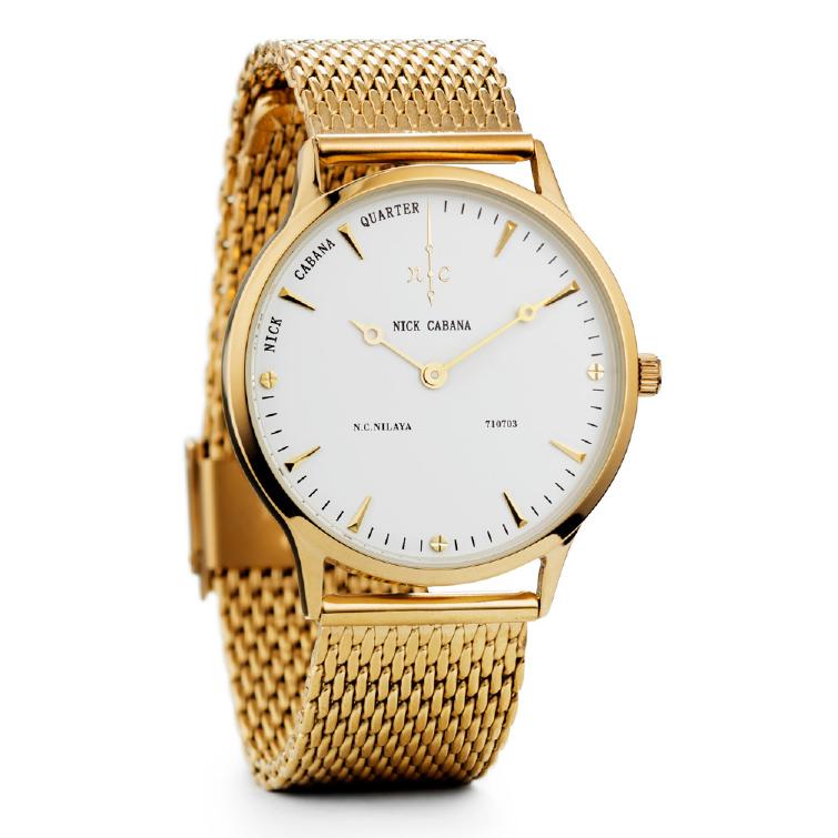 Ρολόι Nick Cabana Nilaya Gold Stainless Steel Bracelet NC210 NC210 Ατσάλι