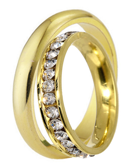 Χρυσές Βέρες με Ζιργκόν Κ14 OLOVERO Χρυσός 14 Καράτια