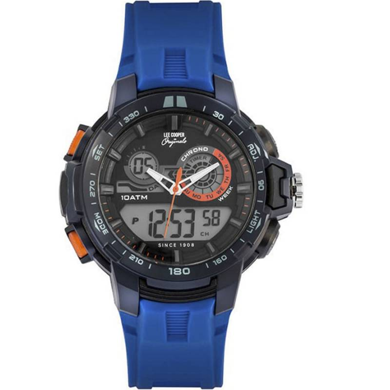 Digital Lee Cooper Blue Rubber strap ORG05403.929 ORG05403.929