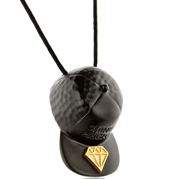 Κολιέ Hat Diamond P162 P162 Ορείχαλκος fashion jewels honor κολιέ