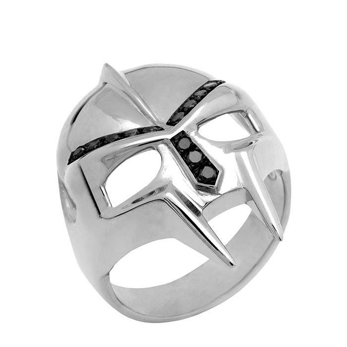 Ασημένιο αντρικό δαχτυλίδι Fighter Elite R4 R4 Ασήμι fashion jewels honor δαχτυλίδια