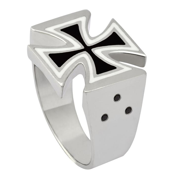 Αντρικό δαχτυλίδι Cross R6 R6 Ασήμι fashion jewels honor δαχτυλίδια