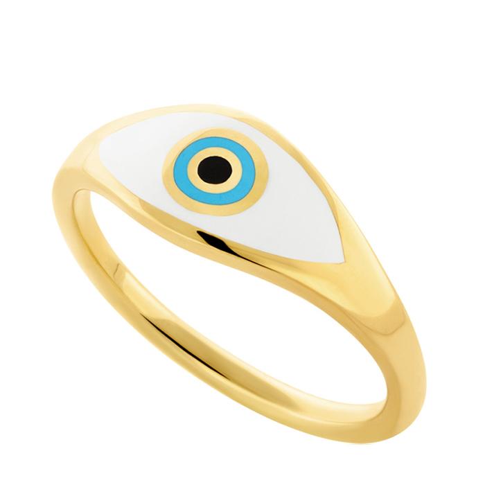 Επίχρυσο γυναικείο δαχτυλίδι Eye R21 R21 Ασήμι fashion jewels honor δαχτυλίδια