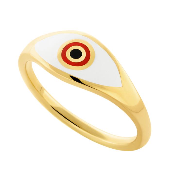 Επίχρυσο δαχτυλίδι γυναικείο Eye R22 R22 Ασήμι fashion jewels honor δαχτυλίδια
