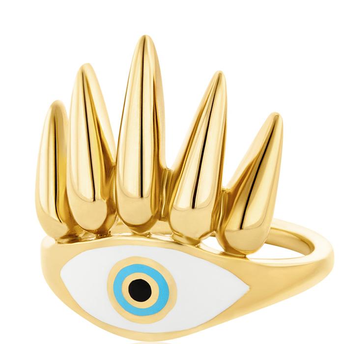 Eye of the Sun επίχρυσο δαχτυλίδι γυναικείο R25 R25 Ασήμι