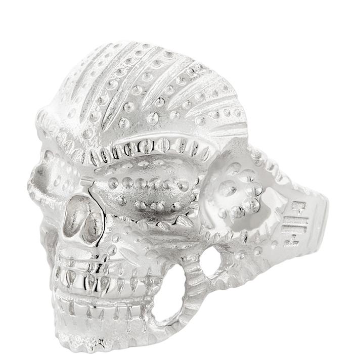 Ασημένιο αντρικό δαχτυλίδι Indian Skull 925 R29 R29 Ασήμι fashion jewels honor δαχτυλίδια