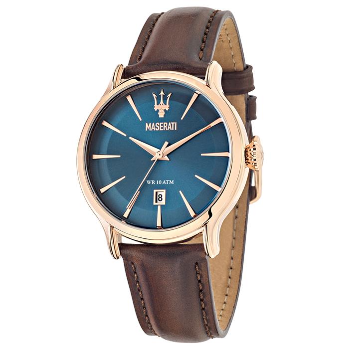 Ρολόι MASERATI Epoca Gold Brown Leather strap R8851118001 R8851118001 Ατσάλι