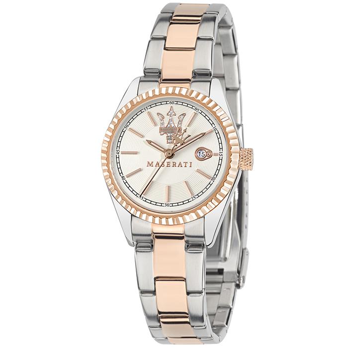 Δίχρωμο γυναικείο ρολόι MASERATI Competizione R8853100504 R8853100504 Ατσάλι
