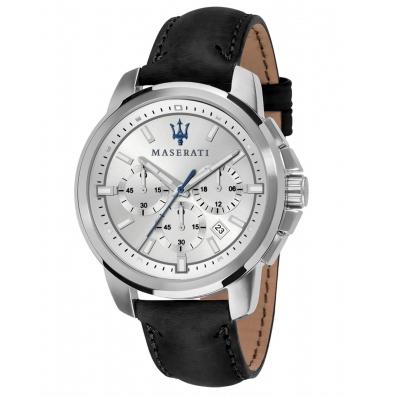 Ανδρικό ρολόι Maserati Multifunction leather strap R8871621008 R8871621008 Ατσάλι