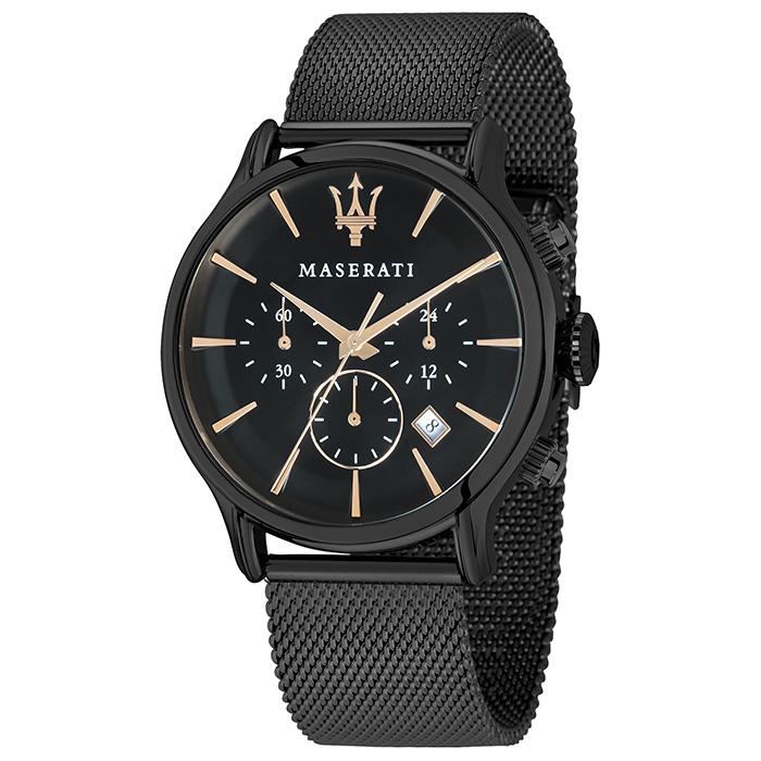 Ρολόι MASERATI Epoca black Srainless Steel R8873618006 R8873618006 Ατσάλι