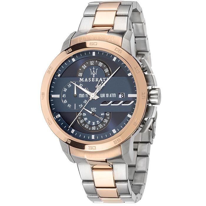 Ρολόι MASERATI Ingegno Two tone Stainless Steel Bracelet R8873619002 R8873619002 Ατσάλι