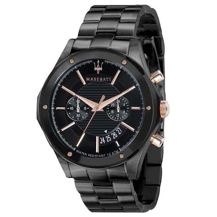 Ρολόι MASERATI Circuito black Srainless Steel R8873627001 R8873627001 Ατσάλι
