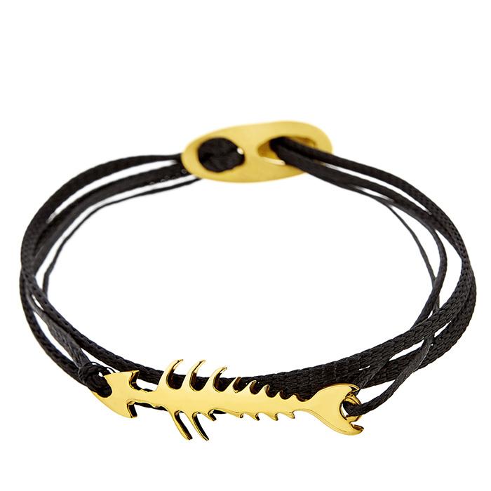 Bracelet Fish bone Yellow SB101Y SB101Y Ασήμι