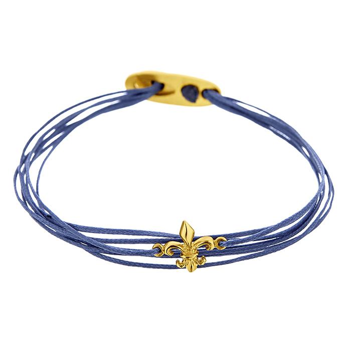 Bracelet Fleur de lis Yellow SB102Y SB102Y Ασήμι