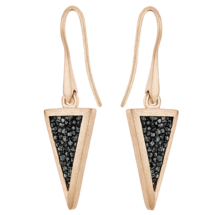 Honor Earrings Small Trianle SDE4PD SDE4PD Ασήμι fashion jewels honor honor omano diamond cult