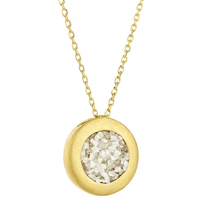 Pendant Small Circle SDP1YW SDP1YW Ασήμι fashion jewels honor honor omano diamond cult