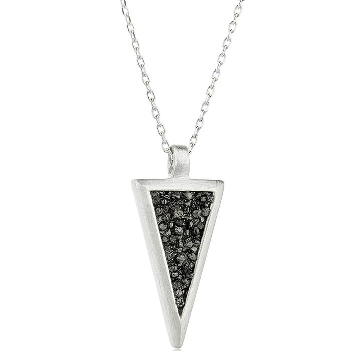 Pendant Small Trianle black diamonds SDP3SB SDP3SB Ασήμι fashion jewels honor honor omano diamond cult