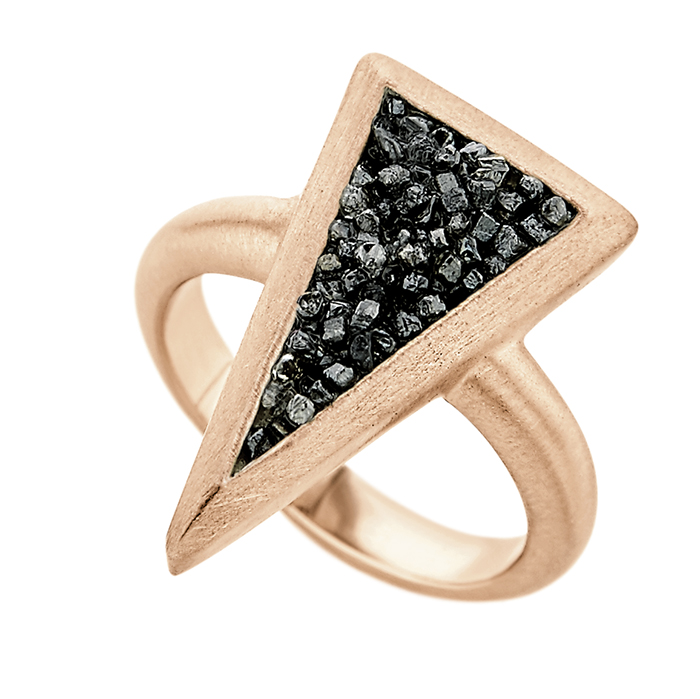 Ring Small Trianle SDR9PB SDR9PB Ασήμι fashion jewels honor honor omano diamond cult