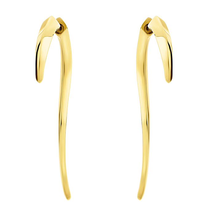 Earrings Tooth Yellow 925 SE43Y SE43Y Ασήμι
