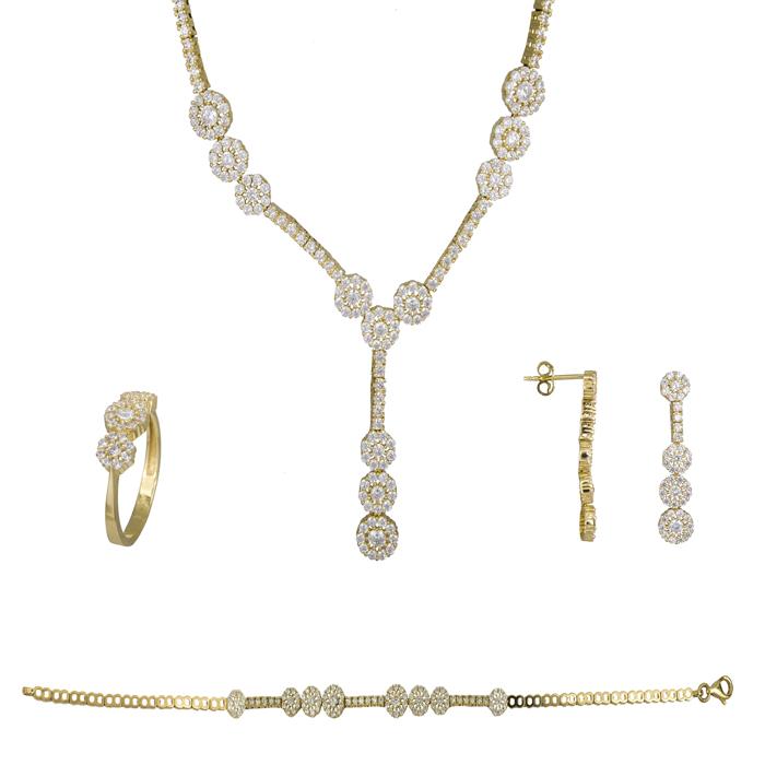 Σετ ροζέτες χρυσό 14Κ SET023808 SET023808 Χρυσός 14 Καράτια