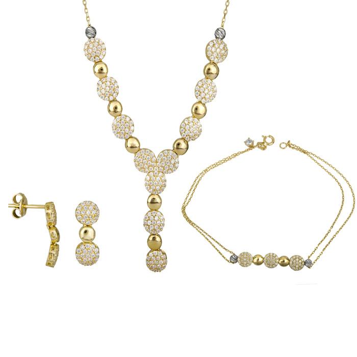 Χρυσό σετ γάμου - αρραβώνα 14Κ SET025381 SET025381 Χρυσός 14 Καράτια