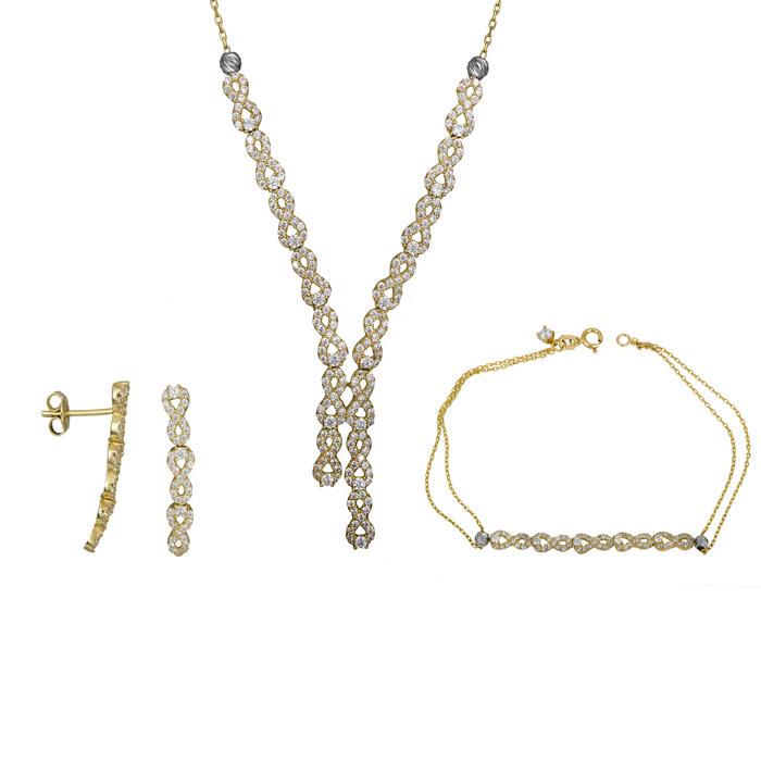 Χρυσό σετ γάμου γραβάτα 14Κ SET025387 SET025387 Χρυσός 14 Καράτια