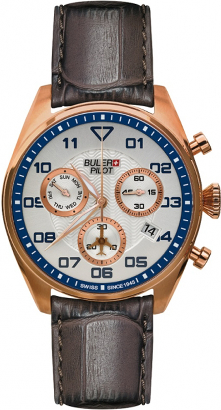 Buler Pilot ανδρικό ρολόι SP03CS02 SP03CS02 Ατσάλι