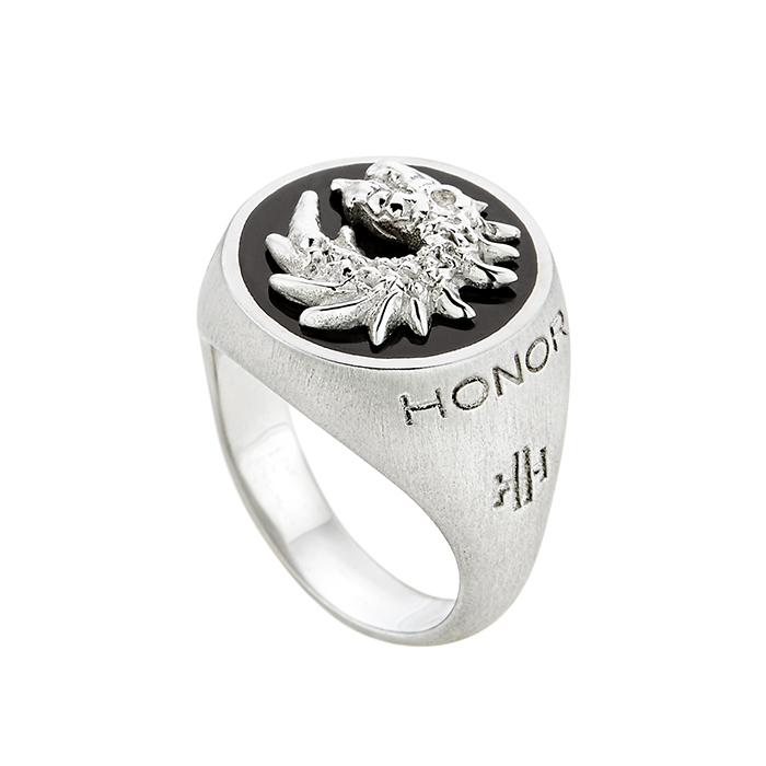 Ασημένιο δαχτυλίδι Honor Dragon SR038SBS SR038SBS Ασήμι fashion jewels honor δαχτυλίδια