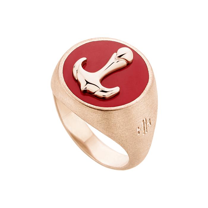 Ροζ επίχρυσο δαχτυλίδι Anchor SR039PRP SR039PRP Ασήμι fashion jewels honor δαχτυλίδια