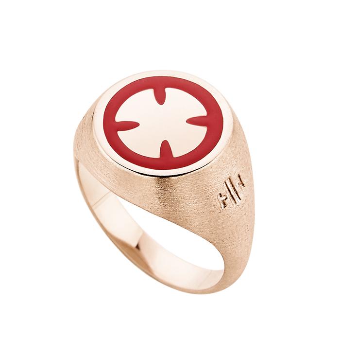 Ροζ επίχρυσο δαχτυλίδι Cross SR041PR SR041PR Ασήμι
