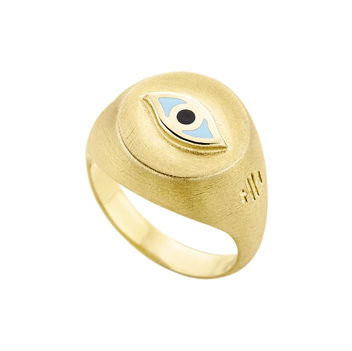 Επίχρυσο δαχτυλίδι Eye SR042YT SR042YT Ασήμι
