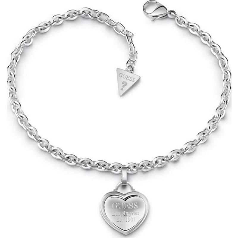 Guess Steel Βραχιόλι γυναικείο με καρδιά UBB28024-L UBB28024-L Ατσάλι