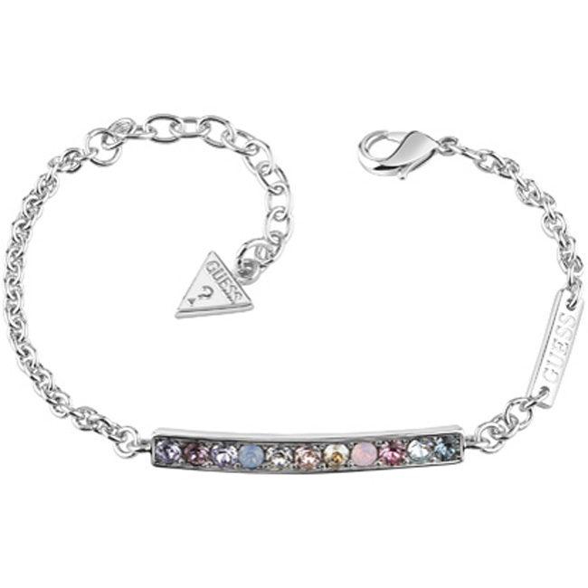 Guess Ασημένιο Βραχιόλι Ουράνιο Τόξο UBB83032-L UBB83032-L Ορείχαλκος fashion jewels guess bραχιόλια