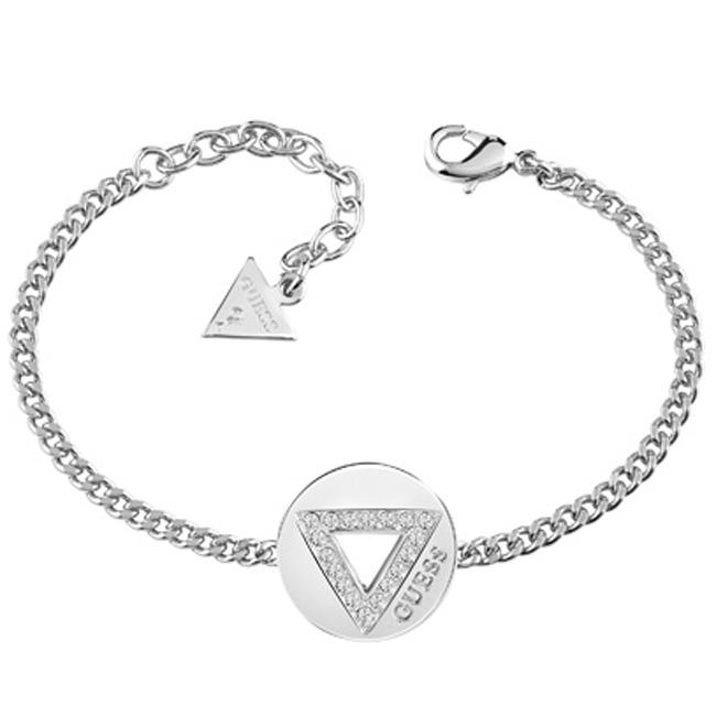 Επάργυρο Guess βραχιόλι με τρίγωνο UBB83057-L UBB83057-L Ορείχαλκος