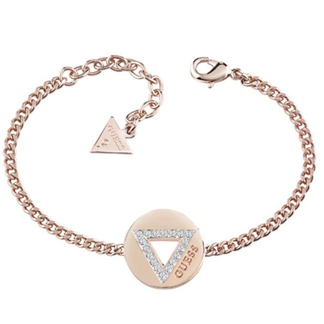 Ροζ Χρυσό Guess βραχιόλι με τρίγωνο UBB83059-L UBB83059-L Ορείχαλκος