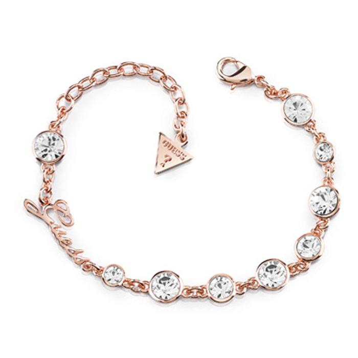Ροζ gold βραχιόλι Guess με πέτρες UBB84128-L UBB84128-L Ορείχαλκος