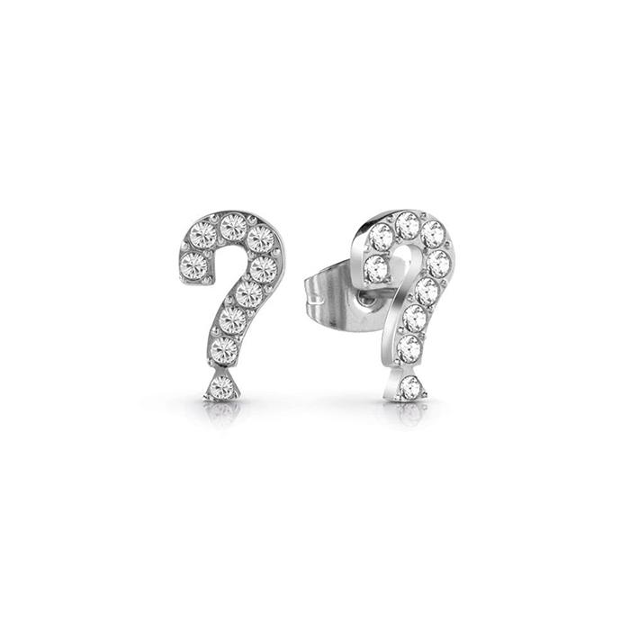Ασημένια σκουλαρίκια Guess Steel Ερωτηματικά UBE28068 UBE28068 Ατσάλι