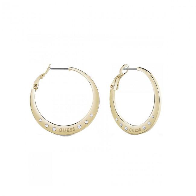 Guess κρίκοι χρυσοί με πέτρες UBE84024 UBE84024 Ορείχαλκος fashion jewels guess σκουλαρίκια