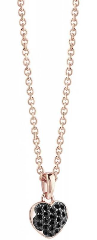 Κολιέ Guess ροζ gold με καρδιά UBN71529 UBN71529 Ορείχαλκος