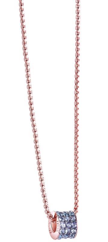 Guess ροζ επίχρυσο κολιέ πετράτο UBN71554 UBN71554 Ορείχαλκος