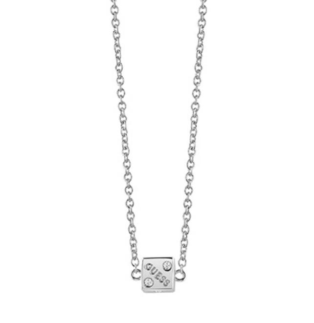 Guess κολιέ από ορείχαλκο με ζάρι UBN83055 UBN83055 Ορείχαλκος fashion jewels guess κολιέ